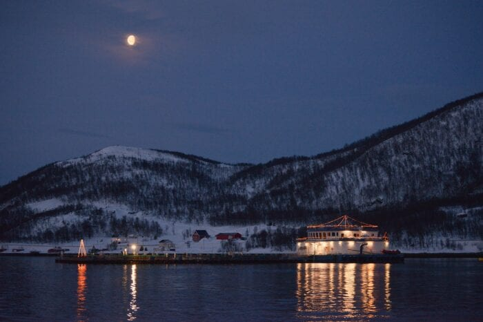 bilde av sjøanlegget på vinteren
